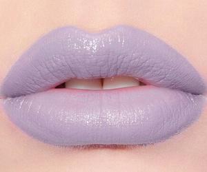 lips, makeup, and purple image