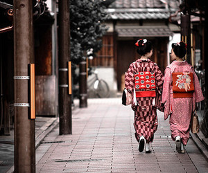 japan, kimono, and girl image