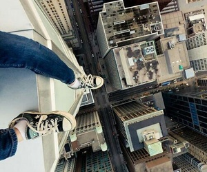 city, jump, and converse image