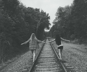 friends, best friends, and black and white image