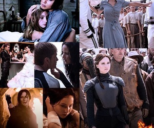 the hunger games, books, and katniss image