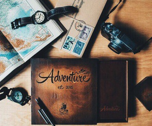 adventure, book, and map image