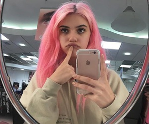 hair, tumblr, and pink image