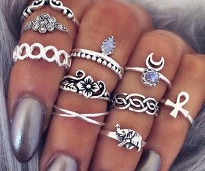 boho, jewellery, and nails image