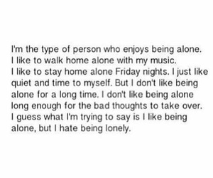 quotes, alone, and lonely image