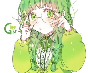 anime, anime girl, and green image