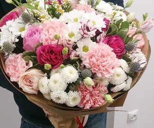 flowers and happy image