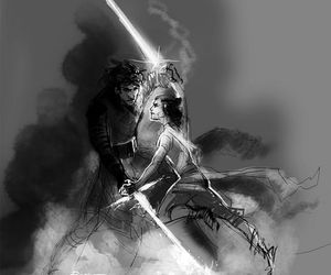 star wars, kylo ren, and rey image
