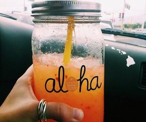drink, orange, and Aloha image