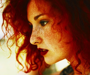 freckles, hair, and redhead image