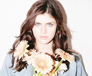 alexandra daddario and flowers image
