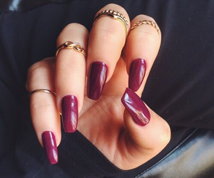 burgundy, red, and rings image