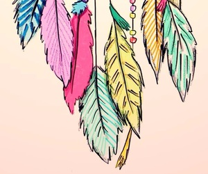 color, draw, and dreamcatcher image