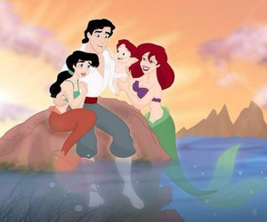disney, ariel, and family image