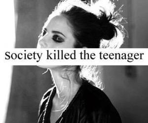 society, teenager, and sad image
