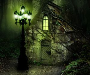 forest, house, and Darkness image
