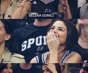 game, selena gomez, and lakers vs spurs image