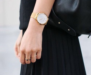 black, fashion, and watch image