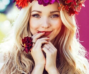 dove cameron, flowers, and blonde image