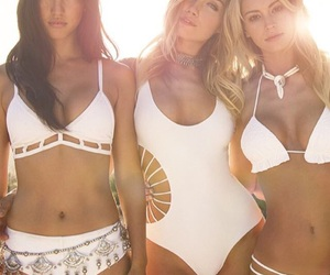 swimsuits, white, and friends image