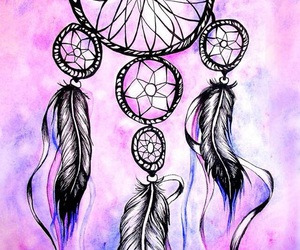 Dream, dreamcatcher, and painting image