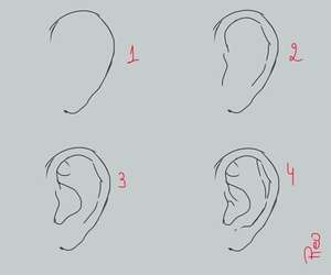draw, drawing, and ear image