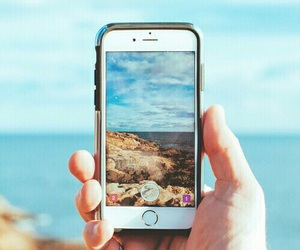 iphone, beach, and photography image