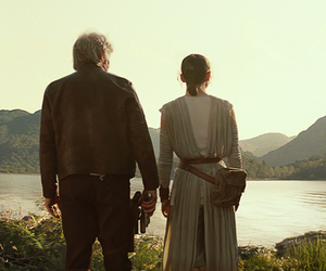 han solo, star wars, and rey image