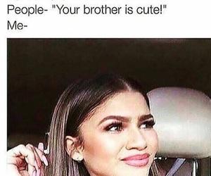 funny, zendaya, and brothers image