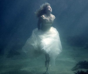 water, drowning, and dress image