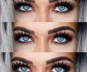 eyes, eyebrows, and makeup image