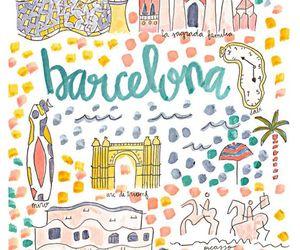 Barcelona, colors, and dibujos image