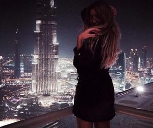 girl, city, and Dubai image