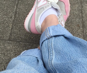 pink, jeans, and tumblr image