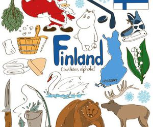 culture, finland, and dibujos image