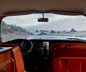 car, beach, and travel image