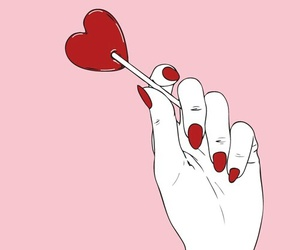pink, red, and heart image