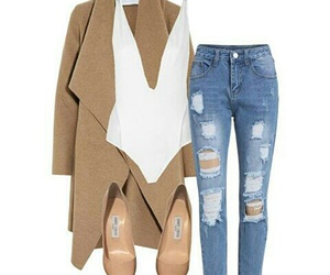 bodysuit, brown, and coat image