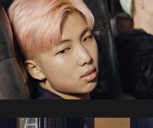fashion, pink hair, and bts image