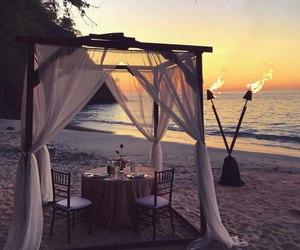 beach, sea, and romantic image