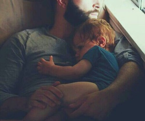 baby, cute, and father image