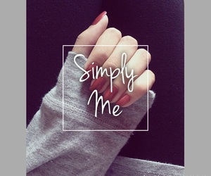 mine, nails, and simply me image