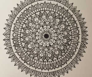 art, draw, and mandala image