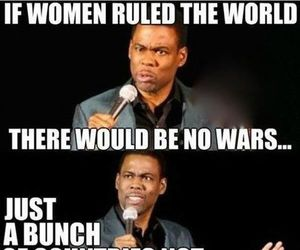 funny, woman, and war image