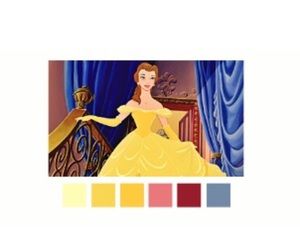 beauty and the beast, belle, and color palette image