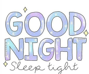 good night and overlay image