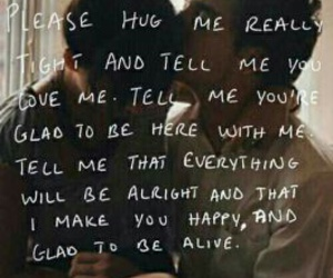 sweet, love, and hug me image