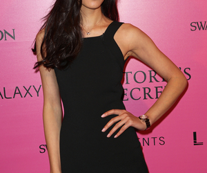 liu wen, model, and black tight dress image