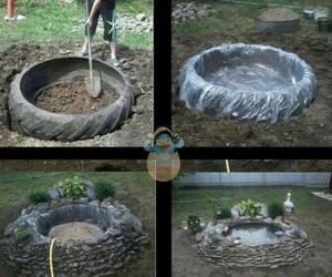aqua, pond, and diy image