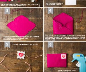 diy, envelopes, and hand image